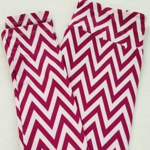 NEW LuLaRoe TC2 Purple Chevron Leggings